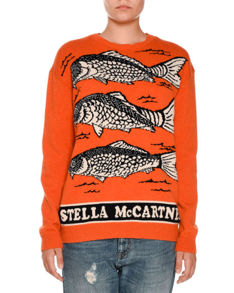Fish Logo Intarsia Sweater