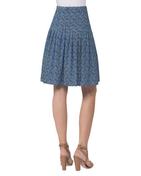 Abstract-Print A-Line Skirt