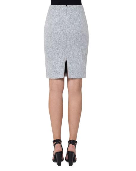 Knitted Tweed Pencil Skirt, Multi Pattern