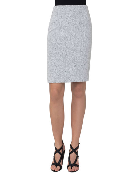 Akris punto Knitted Tweed Pencil Skirt, Multi Pattern