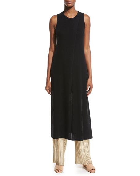 THE ROW Nerin Crossover Tunic Top, Black