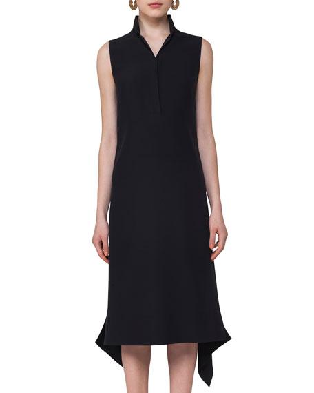 Sleeveless Crepe Midi Dress