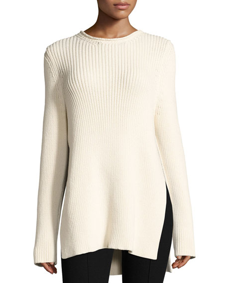 THE ROW Selina Ribbed Crewneck Sweater
