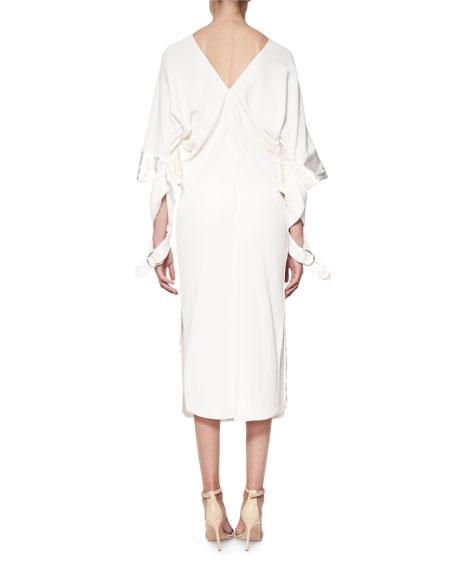 Crushed Velvet 3/4-Sheath Dress