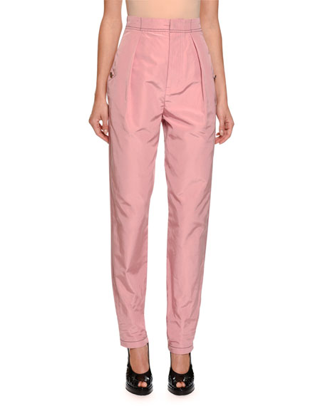 Gigi Faille High-Waist Pants