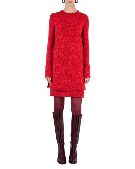 Melange Knit Tunic Dress