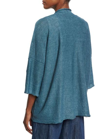 Linen Half-Sleeve Cardigan