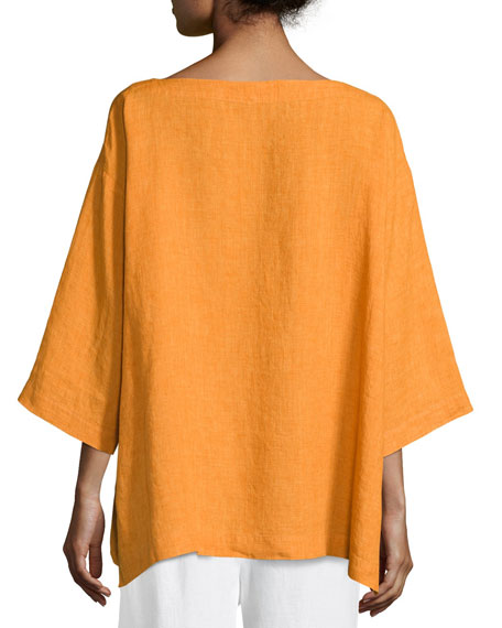 Bracelet-Sleeve Linen Tunic