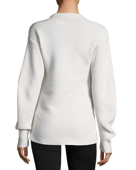 Crewneck Cross-Front Sweater