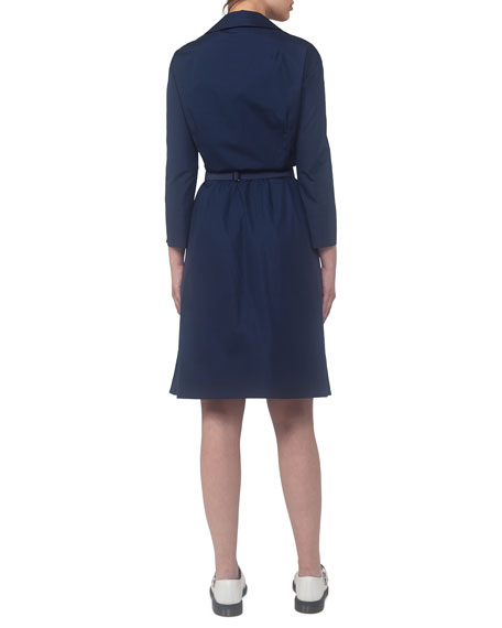 Bracelet-Sleeve Cotton Shirtdress