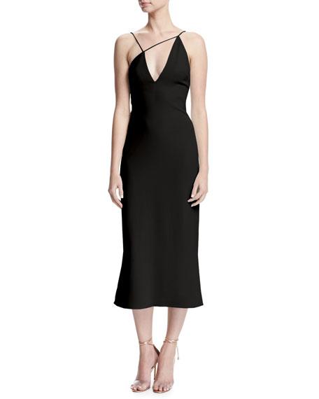 Karina Slip Dress with Asymmetric Straps