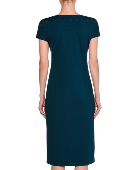 Atomic Jersey Belted Short-Sleeve Dress