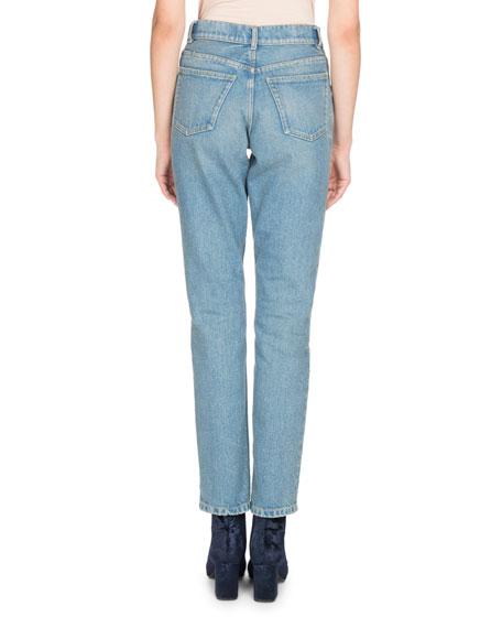 High-Waist Denim Jeans, White