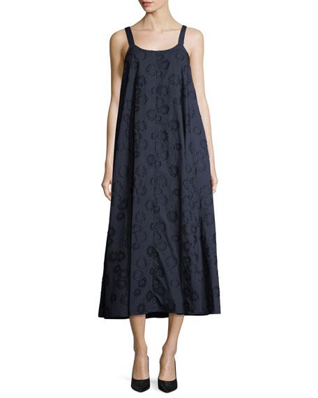 Sleeveless Floral Cotton Midi Dress
