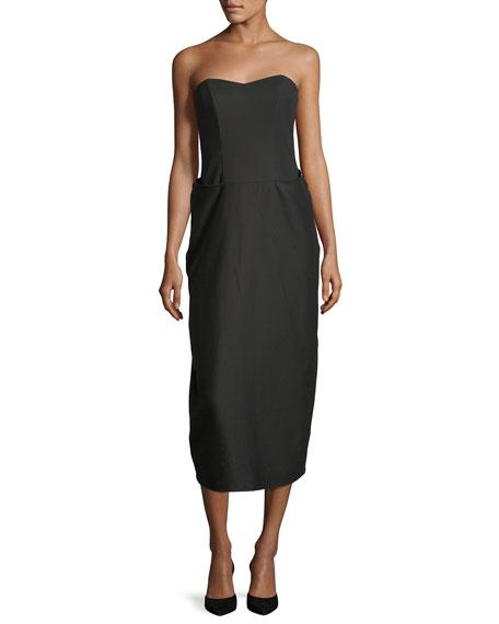 Strapless Sweetheart Midi Dress
