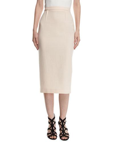 Arreton Wool Pencil Skirt