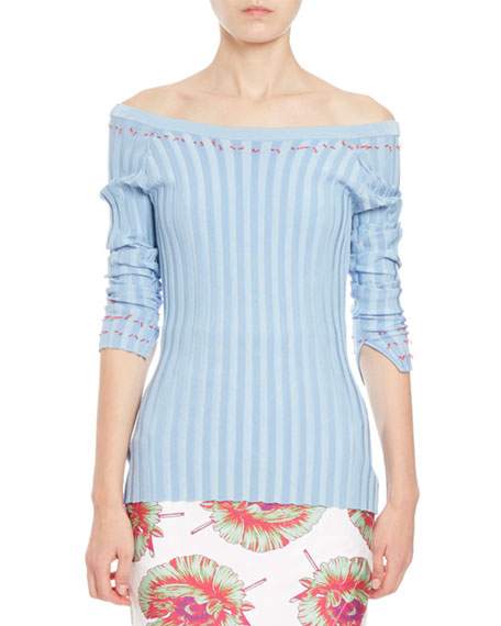 Tatum Striped Knit Ballet Top