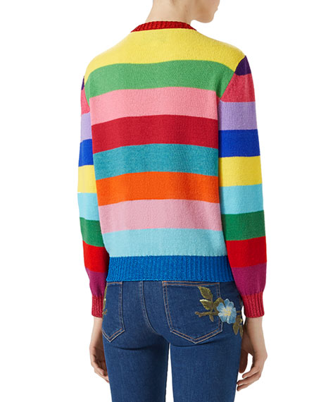 Striped Wool Sweater, Multi