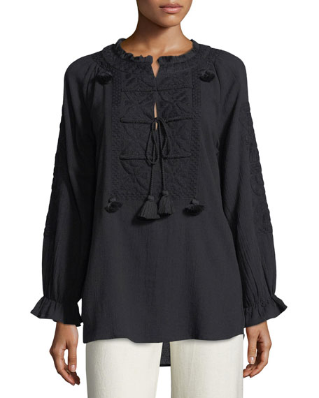 Lou Lou Embroidered Top