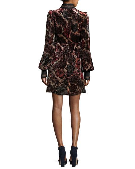 Floral Velvet Jacquard Dress