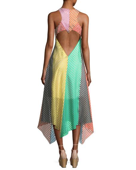 Striped Empire Midi Dress