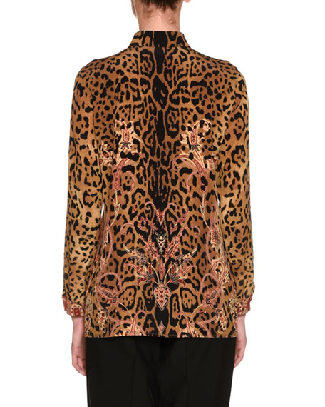Leopard & Paisley Silk Shirt