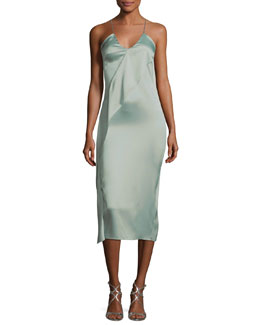 Strappy Pencil Dress with Sa