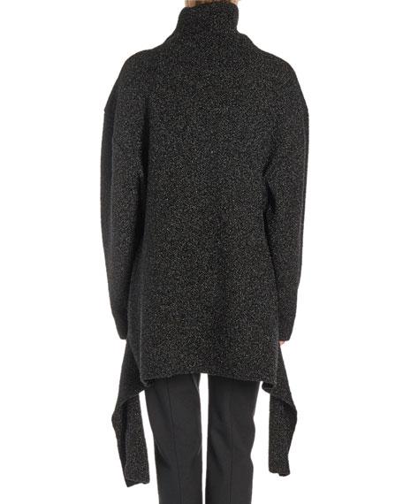 Tie-Waist Turtleneck Sweater