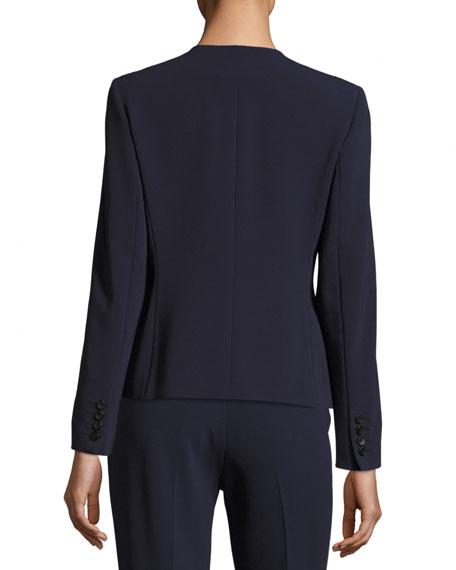 Ruffled Wool Crepe Jacket