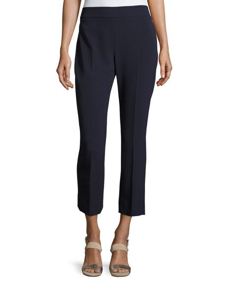 Cropped Straight-Leg Pants