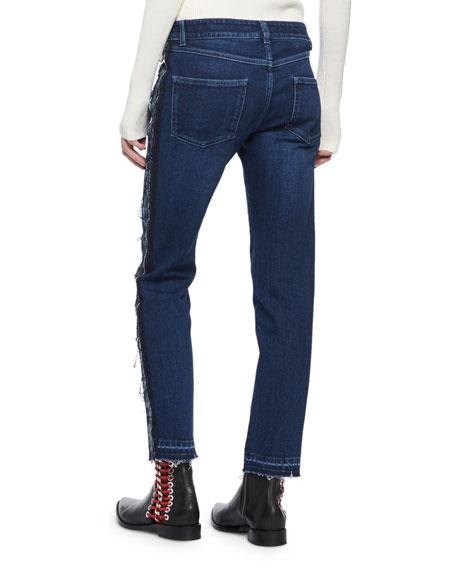 Frayed Denim Ankle Jeans