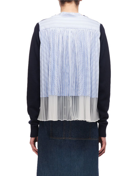 Short-Sleeve Tee with Pleated Back