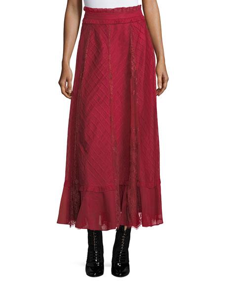 Organdy Lace Midi Skirt