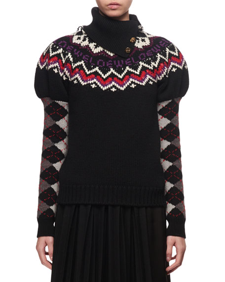Fair Isle Logo Knit Sweater