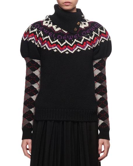 Loewe Fair Isle Logo Knit Sweater