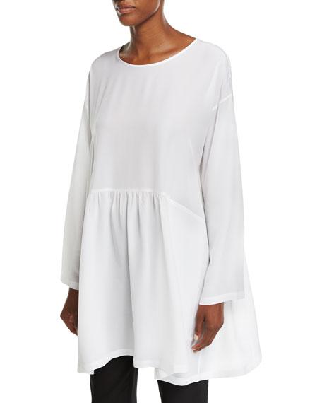 Long-Sleeve Round-Neck Tunic