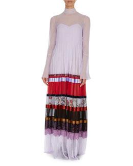 Beaded Faille Sheath Dress, White/Navy