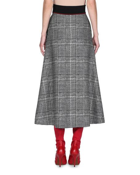 Prince of Wales Check Midi Skirt