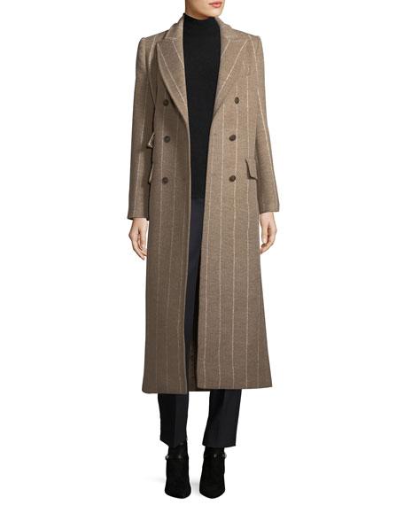 Striped Virgin Wool Coat