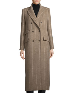Striped Virgin Wool Coat