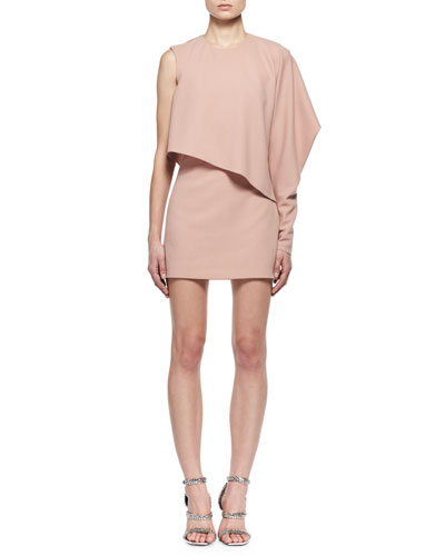 One-Sleeve Cashmere Cocktail Dress