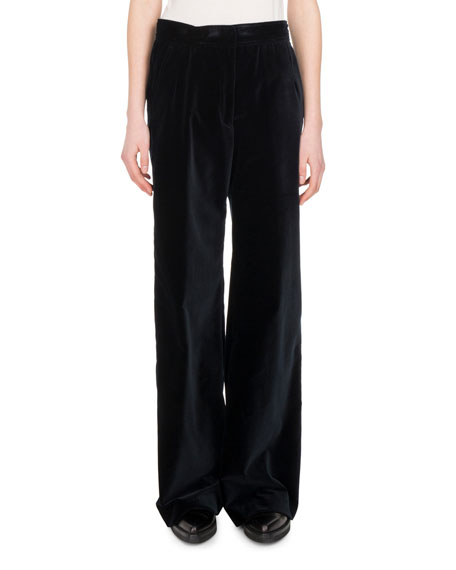 Panter Velvet Wide-Leg Pants