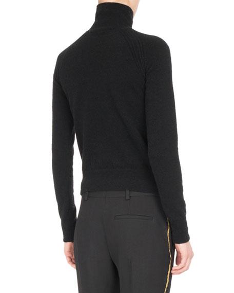 Goldstreak Knit Turtleneck Sweater