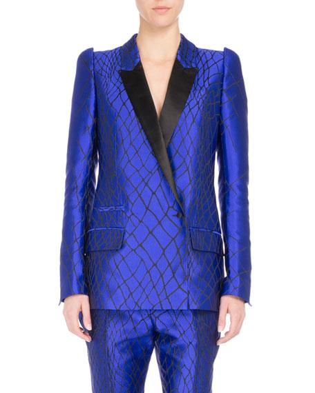 Embroidered Two-Tone Tuxedo Jacket