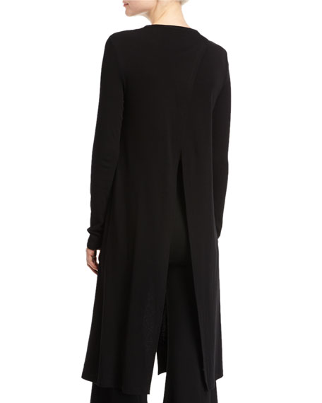 Long-Sleeve Cutaway Maxi T-Shirt