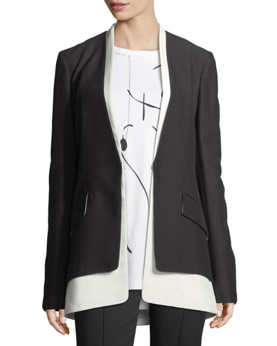 Layered Two-Tone Cady Blazer