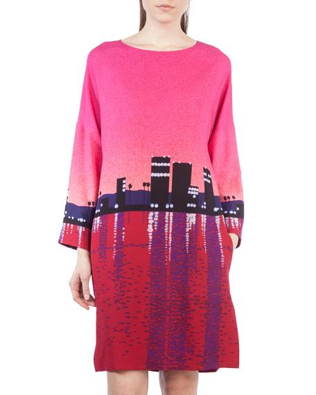 Sunset City Long-Sleeve Dress