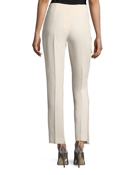 Cropped Wool Crepe Pants