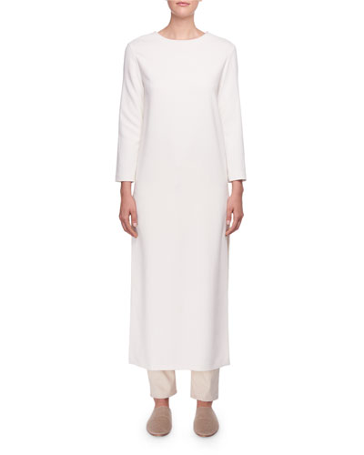 Nolia Long-Sleeve Dress w/ Side Slits