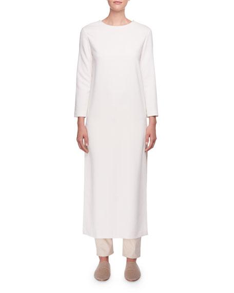 Nolia Long-Sleeve Dress w/ Side Slits